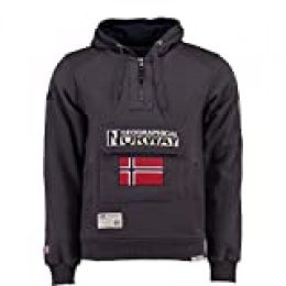 Geographical Norway Sudadera DE Hombre GYMCLASS A Gris Oscuro M