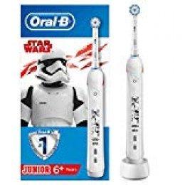 Oral-B Junior - Cepillo Eléctrico Recargable con Tecnología de Braun, 1 Mango de Star Wars, 1 Cabezal, Apto para Niños Mayores de 6 años