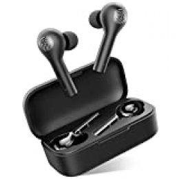 Auriculares Bluetooth, HOMSCAM Auriculares Inalámbricos Bluetooth 5.0 HiFi Mini Estéreo In-Ear Auriculares Impermeable, Micrófono Incorporado, Control Táctil, Modo de Juego, Reproducción de 25 Horas