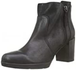 Geox D ANEEKA E, Botines para Mujer, Negro (Black C9999), 36 EU
