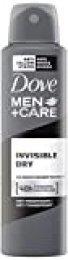 Dove Men + Care Desodorante Spray Invisible Dry–transpirant, 150ml, Paquete de 6