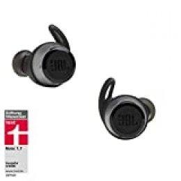 JBL Reflect Flow - Auriculares inalámbricos intraaurales deportivos, con Bluetooth y tecnologías TalkThru y AmbientAware, hasta 20h de música, negro