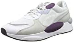 PUMA RS 9.8 Gravity, Zapatillas Unisex Adulto, White-Plum Purple, 36 EU