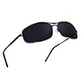 NWOUIIAY Gafas de Sol de Marco de Aluminio de Aleación de Magnesio Estilo Deportivo con Lente TAC 100% UV 400 Lentes de Sol para Hombres y Mujeres