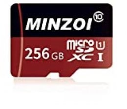 minzoier Tarjeta de Memoria Flash SDXC Micro SD de 128GB / 256GB / 400GB Clase 10 para la cámara del teléfono Celular Laptop + Adaptador Gratuito