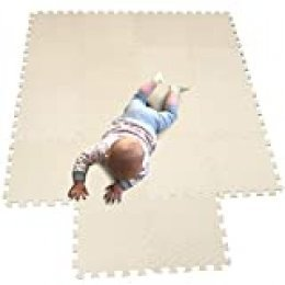 MQIAOHAM juego de enclavamiento juego de bebé tapetes para niños tapetes para niños foammats playmats estera del rompecabezas bebé 18 piezas niños tapete tapete tapete Blanco Frutaverde 101115