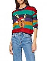 Brave Soul 230rupert suéter, Multicolor (Multi Stripe Multi Stripe), 38 (Talla del Fabricante: X-Small) para Mujer