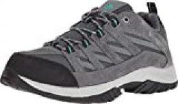 Columbia Crestwood, Zapatillas de Running para Asfalto para Mujer, Gris (Graphite/Pacific 053), 36 EU