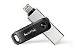SanDisk iXpand Go - Memoria Flash USB de 128 GB para tu iPhone y iPad