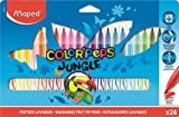 Maped Color' Peps Jungle - Rotuladores de Colores (24 Unidades)
