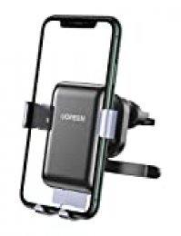 UGREEN Soporte Móvil Coche Rejillas del Aire Soporte Teléfono Coche Ventilación Car Holder Universal 360° Automático Ajustable por Gravedad para iPhone XS/XS MAX/ 11 Pro, Samsung S10/ S9/ S8/ Note10