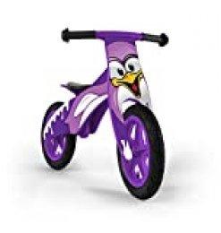 Milly Mally 12 Zoll niños del Muchacho / de la Bici del Entrenamiento del Equilibrio de Madera para los niños, el Aprendizaje de Madera, Tipo: Pingüino