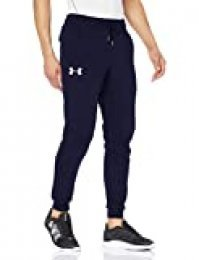 Under Armour Rival Fitted Tapered Jogger Pantalones, Hombre, Azul (Midnight Navy/White 410), M