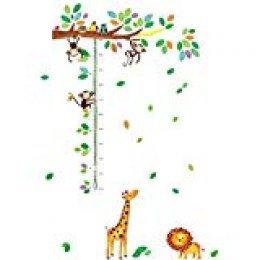 cioler Animales de Dibujos Animados Medida de Altura Etiqueta de la Pared para Habitaciones de niños Cuadro de Crecimiento Decoración Arte de la Pared Pegatinas de Pared