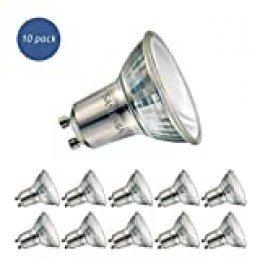 Sanlumia Bombillas LED GU10, 6W = 75W Halógena, 500Lm, Blanco Frío (6400K), Ultra Brillante, Iluminación de Techo para Cocina, Oficina, o Baño, 110° ángulo de haz,Paquete de 10