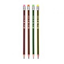 Spirit 404259 TTS - Lápices con goma de borrar (12 unidades), colores surtidos