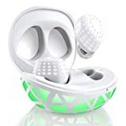 Arbily Auriculares Bluetooth, Auriculares inalámbricos 5.0 Control Táctil, Sonido Estéreo con Graves Profundos con Mic Incorporado, Estuche Luminoso para iOS Android Ideal para Deporte Regalo