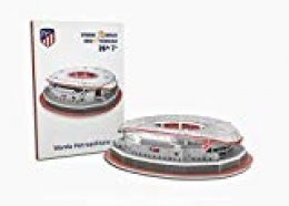 Atletico de Madrid Nanostad, Puzzle 3D Estadio Wanda Metropolitano Mini (34014), Multicolor