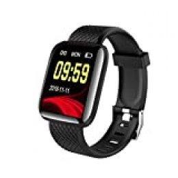 Ajcoflt Smartwatch, Rastreador De Ejercicios A Prueba De Agua Ip67, MonitorizacióN De Frecuencia CardíAca Y Pulsera De MonitorizacióN del SueñO, Compatible con 14 Idiomas