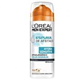 L'Oréal Paris Men Expert Hydra Sensitive Espuma de Afeitar para Pieles Sensibles - 200 ml
