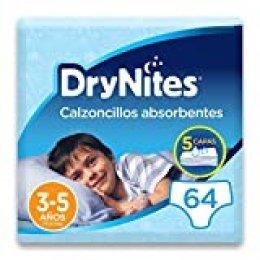 DryNites - Calzoncillos absorbentes para niño - 3-5 años (16-23 kg), 4 paquetes x 16 uds (64 unidades)