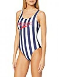 Speedo Ice Cream U-Back Traje de Baño, Mujer, Multicolor (Blue/White), 28 (UK 6)