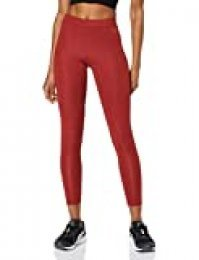 Marca Amazon - AURIQUE Leggings Deporte Petite Mujer, Rojo (Red Dhalia), 42, Label:L
