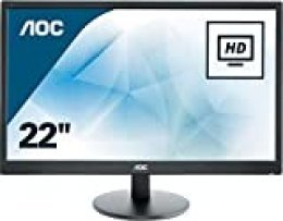 "AOC E2270SWHN - Monitor de 21.5"" Full HD (resolución 1920 x 1080 Pixels, tecnología WLED, Contraste 600:1, 5 ms, VESA, HDMI)"