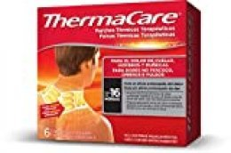 THERMACARE - Parche térmico terapéutico para el dolor de cuello, hombro y muñeca, alivio prolongado del dolor hasta 16 Horas, sin medicamentos, 6 parches