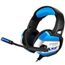 Woxter Stinger GX 250 H - Auriculares Gaming 7.1 Retroiluminados con micrófono para PS4-PC-Mac,Reducción de ruido,Diadema ajustable,Micrófono omnidireccional,conexión USB