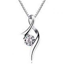 B.Catcher Mujer Collar 925 Plata de Ley ''Eres el amor de mi vida'' con Para Regalo San Valentín Originales Cadena 45cm Longitud