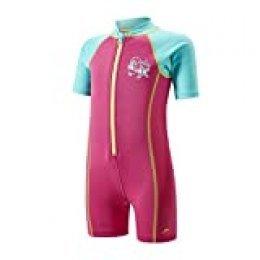 Speedo Seasquad Hot Tot Traje de Neopreno, Unisex bebé, Vegas Pink/Bali Blue, 6/9 Meses