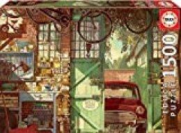 Educa Borras - Genuine Puzzles, Puzzle 1.500 piezas, Old garage (18005)