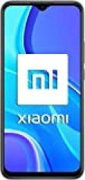 """Xiaomi Redmi 9 - Smartphone con Pantalla FHD+ de 6.53"""" DotDisplay, 4 GB y 64 GB, Cámara cuádruple de 13 MP con IA, MediaTek Helio G80, Batería de 5020 mAh, 18 W de Carga rápida, Gris"""