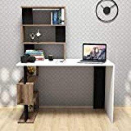 Minar by Homemania Homemania - Escritorio Snap, Color Blanco