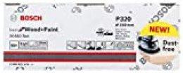 Bosch Professional 2608621171 Hojas de lija M480 Best for Wood and Paint, madera y pintura, grano P80, accesorios para lijadora excéntrica, 0 W, 0 V, Ø 150 mm, Set de 50 Piezas