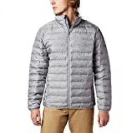 Columbia Lake 22, Chaqueta de plumas, Hombre, Gris (Columbia Grey Heather), Talla XL