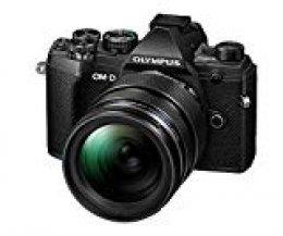 Olympus OM-D E-M5 Mark III Micro Four Thirds System Camera Kit, sensor de 20 Mpx, estabilizador de imagen de 5 ejes, visor electrónico OLED, vídeo 4K, WLAN, negro incl. objetivo M.ZuikoPRO de 12-40mm