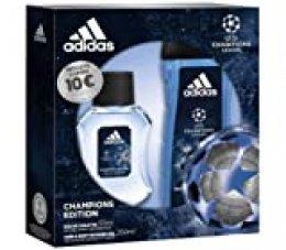 Adidas Champions Editios Set,  Eau de toilete 50 ml y Gel de Ducha para Cabello y Cuerpo 250 ml