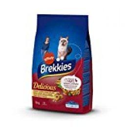 Brekkies Pienso para Gatos Delicious con una Selección de Aves y Verduras - 3000 gr
