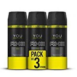 AXE You - Desodorante Bodyspray para hombre, 48 horas de protección, 150ml, pack de 3