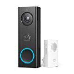 eufy Security, Wi-Fi Video Doorbell, 2K Resolution, Real-Time Response, No Monthly Fees, Secure Local Storage, Free Wireless Chime (Requires Existing Doorbell Wires, 16-24 Vac, 30 VA or Above)