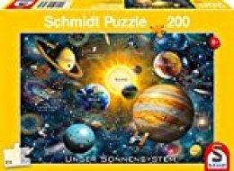 Schmidt Spiele Puzzle 56308Nuestro Sistema Solar, 200Piezas Niño Rompecabezas, Multicolor