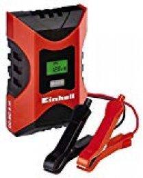 Einhell 1002231 Cargador Bateria CC-BC 6 m con ControlMicro-Processor Voltaje 6/12v, Negro, Rojo