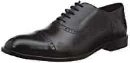 Geox U SAYMORE A, Zapatos de Cordones Oxford para Hombre, Negro (Black C9999), 45 EU