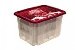 keeeper Caja de Almacenaje con Diseño Navideño y Tapa, 44,5 x 35 x 27 cm, 30 l, Wika, Rojo