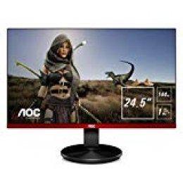 "AOC Gaming G2590FX Pantalla para PC 62,2 cm (24.5"") Full HD LCD Plana Mate Negro, Rojo - Monitor (62,2 cm (24.5""), 1920 x 1080 Pixeles, Full HD, LCD, 1 ms, Negro, Rojo)"