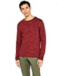 Marca Amazon - find. Camiseta Manga Larga Hombre, Rojo (Burgundy), M, Label: M