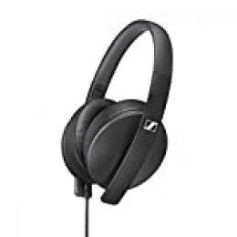 Sennheiser HD 300 Auriculares Circumaurales, Ligeros y Plegables, Color Negro, Talla Única