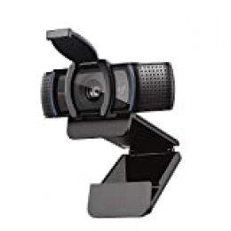 Logitech C920s HD Pro Webcam, Full HD 1080p/30fps, Video-Llamadas, Audio Nítido, Corrección de Iluminación Automática, Tapa de Privacidad, Skype, Zoom, FaceTime, Hangouts, PC/Mac/Portátil/Tablet/XBox